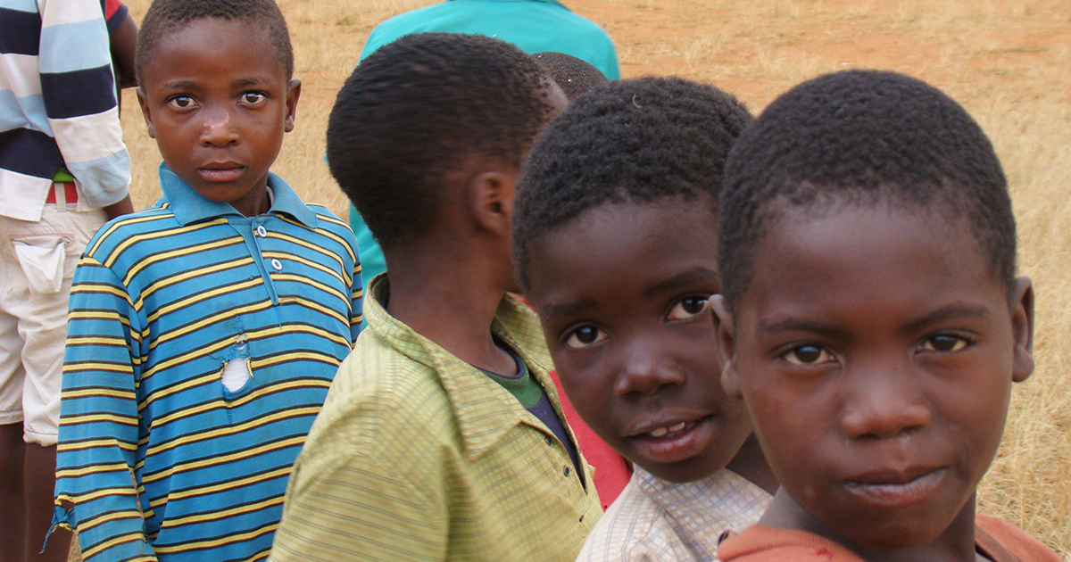 Group of boys in Malawi